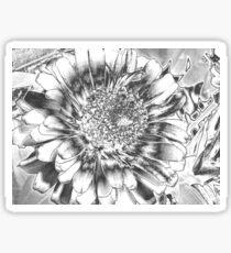 Chrome flower Sticker