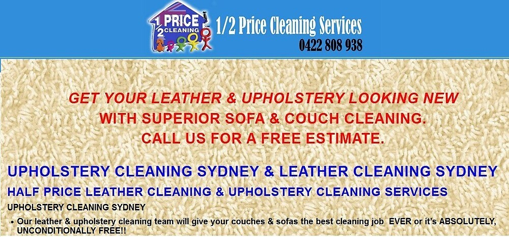 Experts of Upholstery & Leather Cleaning Services in Liverpool, Sydney by halfpricecleani