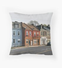 Broadway Streetscape Throw Pillow