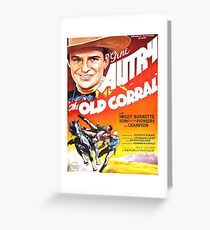 Vintage poster - The Old Corral Greeting Card