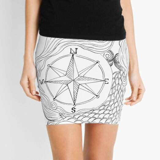 Thessalonike – Macedonian #Mermaid with Compass Mini Skirt