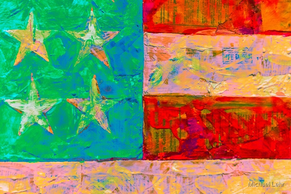 Flag appropriated from Jasper Johns by Michael Lehr