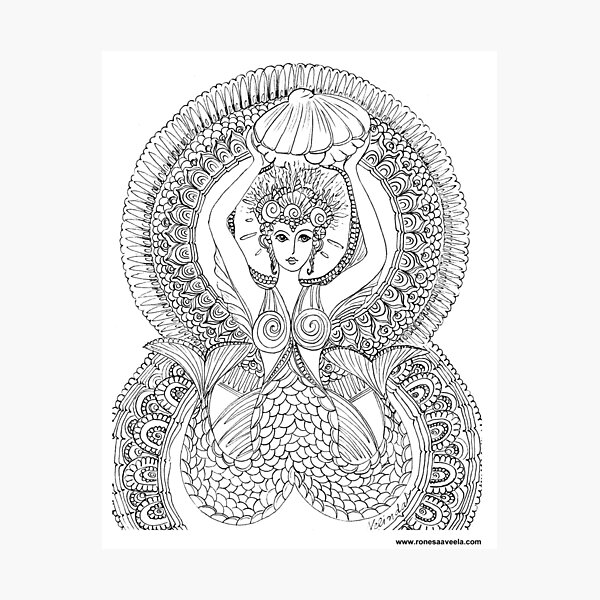Atargatis – Assyria  The Odest #Mermaid  Photographic Print