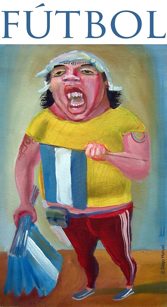 Football. (Seller of flags) by Diego Manuel Rodriguez