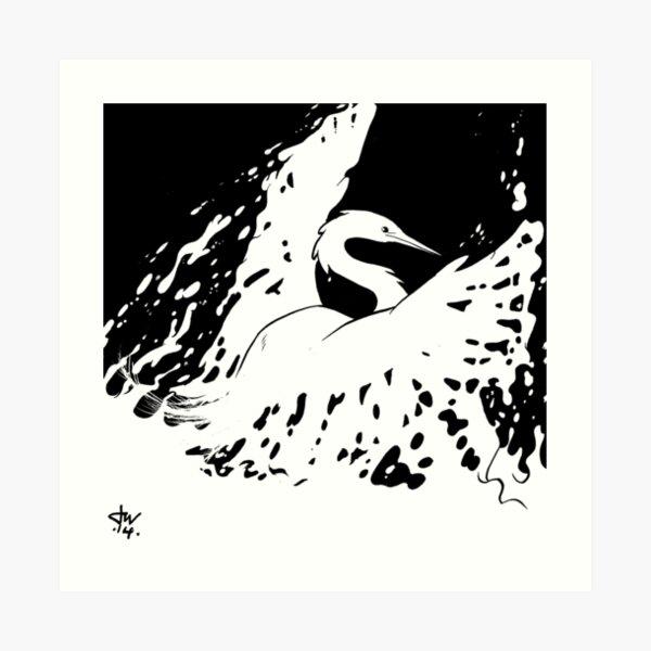 Water Phenix Art Print