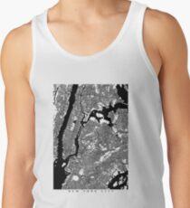 Camisetas de tirantes para hombre Mapa blanco y negro de la ciudad de Nueva York - NYC