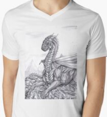 Saphira (BW) Mens V-Neck T-Shirt