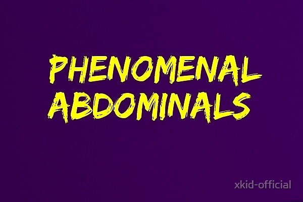 Phenomenal Abdominals (Gold on Purple) by xkid-official
