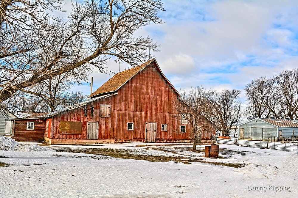 The Old Red Barn by Duane Sr