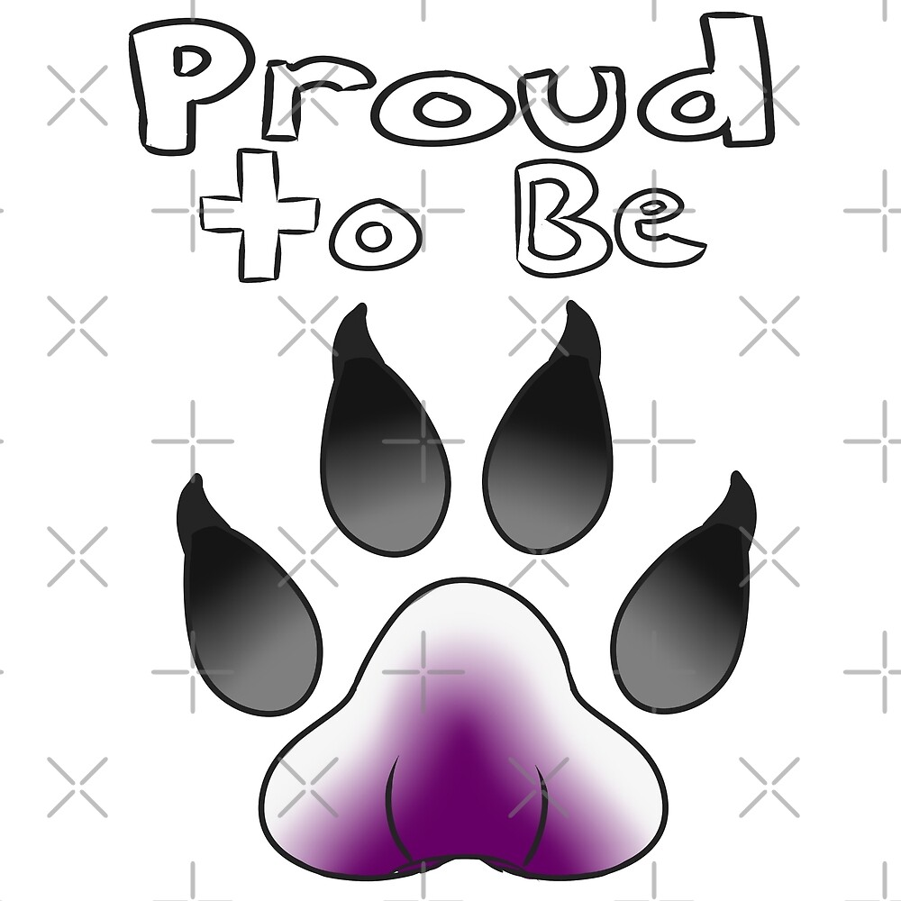 Proud to be Asexual Furry by Catdragon7