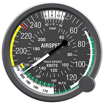 Aviation Air Speed Indicator by skyhawktees