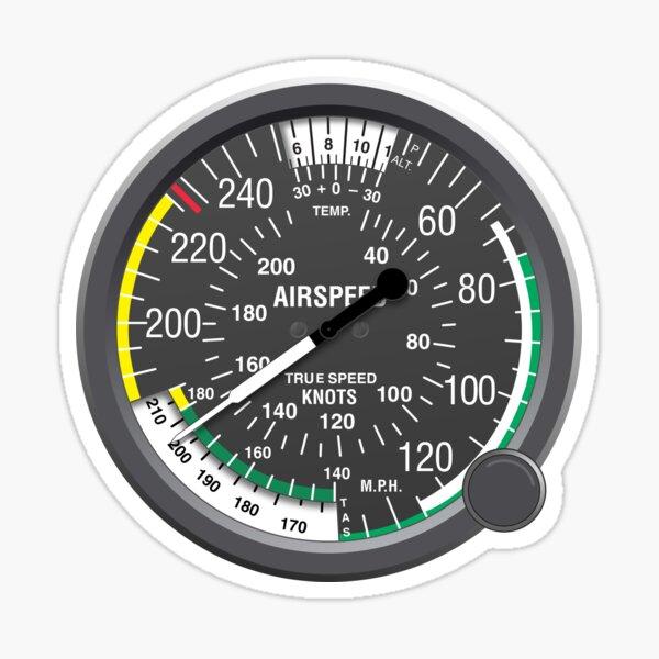 Aviation Air Speed Indicator Sticker