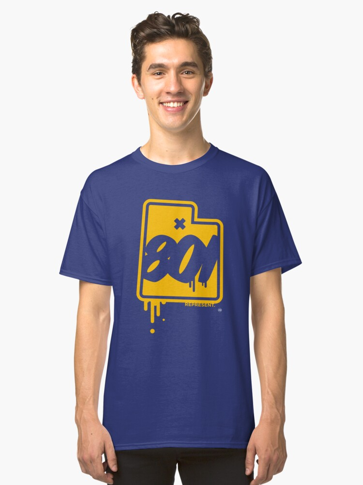801 YELLOW AND BLUES Classic T-Shirt Front