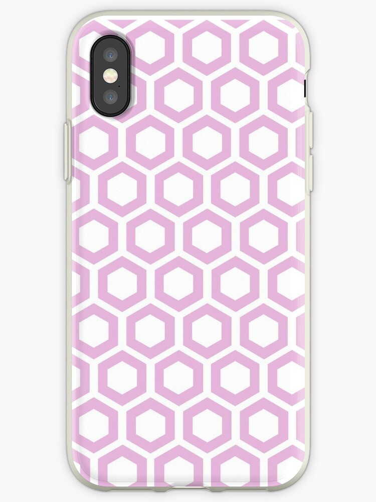 Hexagon,modern,trendy,pattern,white,cube,pale pink by love999