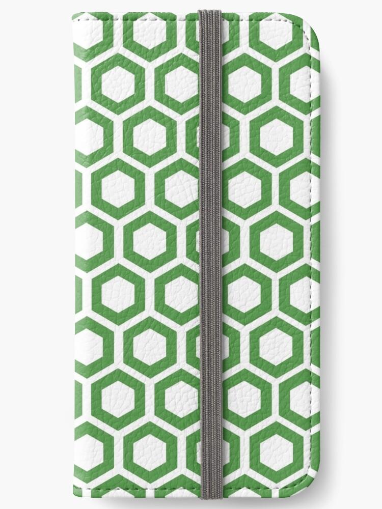 Hexagon,modern,trendy,pattern,white,cube,green by love999