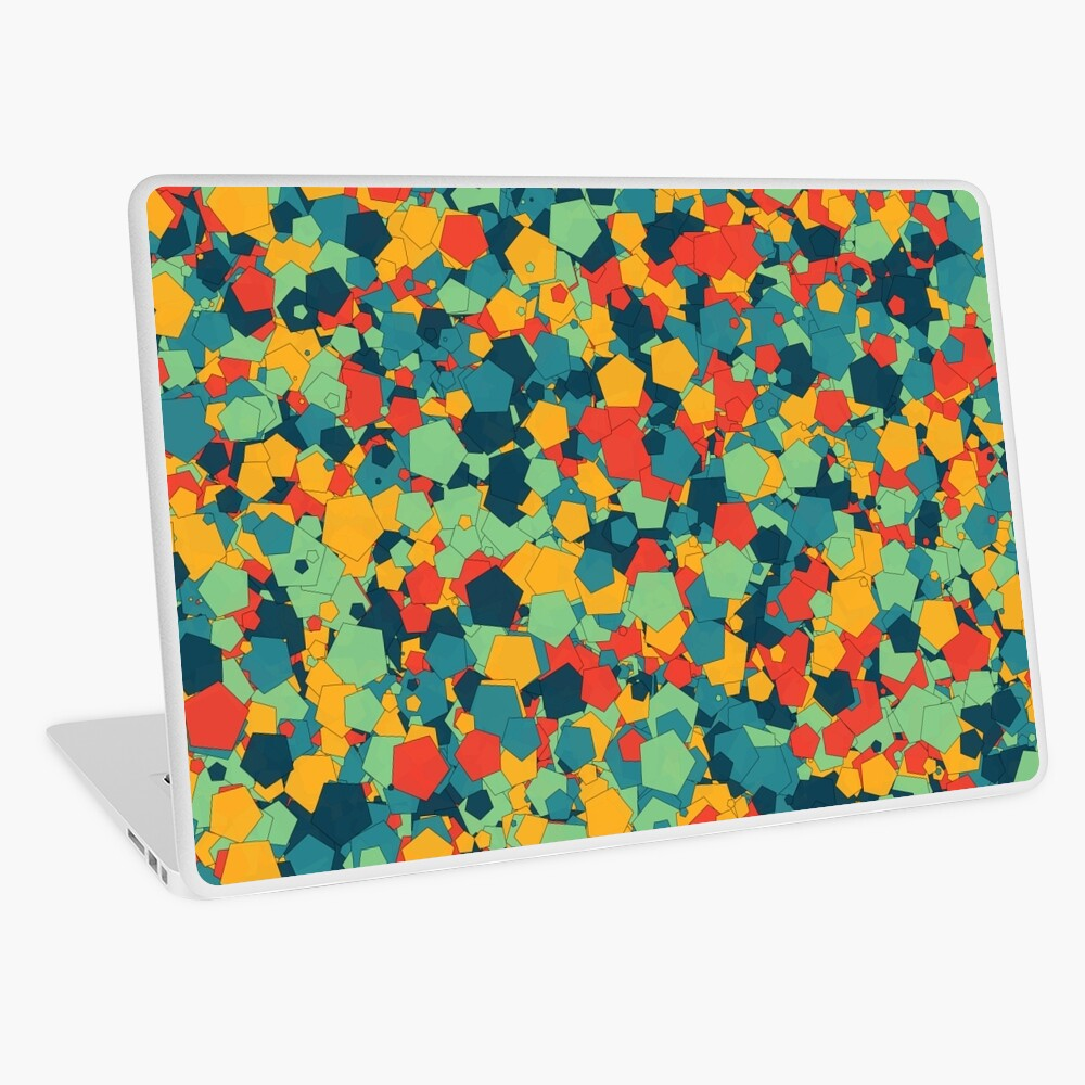 Colorful Pentagons by Jerome Herr Laptop Skin