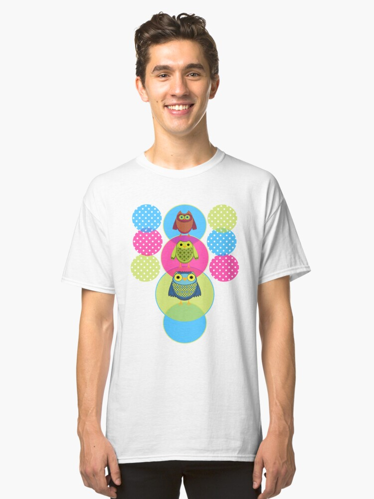 Circus Owls Classic T-Shirt Front