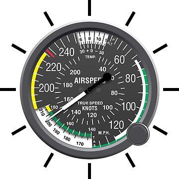 Aviation Air Speed Indicator Clock by skyhawktees