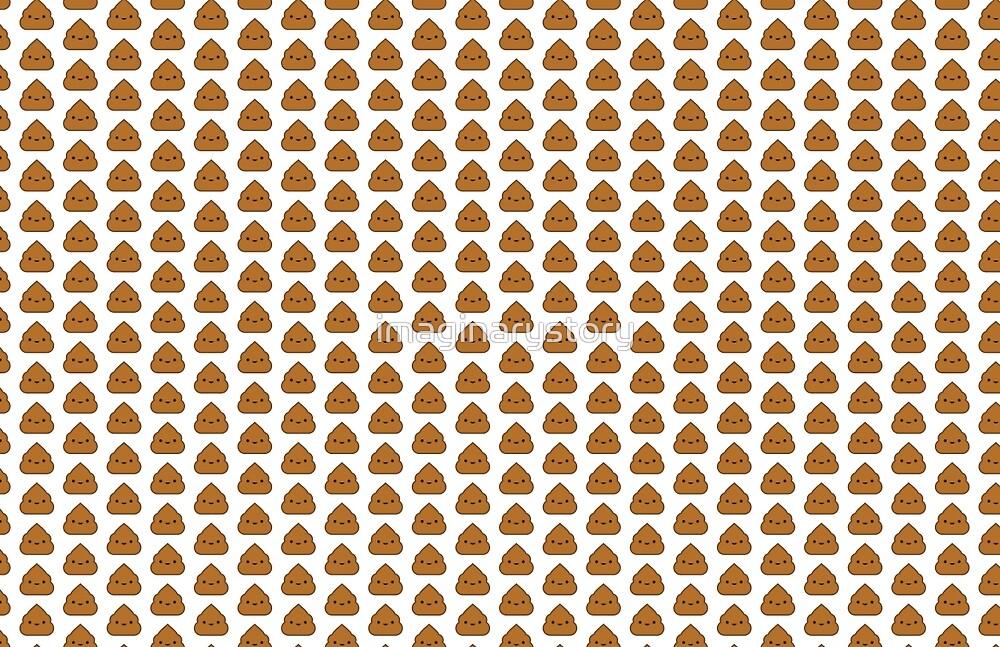 Kawaii Poop Pattern by imaginarystory