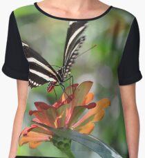 Butterfly Macro Chiffon Top
