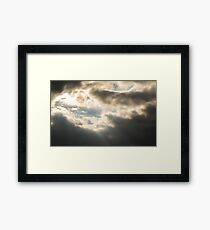 Epic Winter Sky Photo Framed Print
