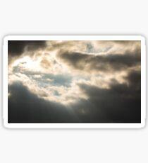 Epic Winter Sky Photo Sticker