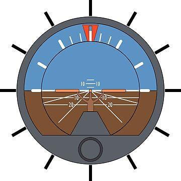 Aviation Attitude Indicator Clock by skyhawktees