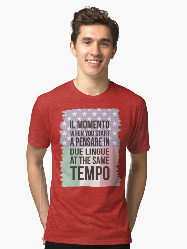 Il Momento (Yank Version) Tri-blend T-Shirt Front