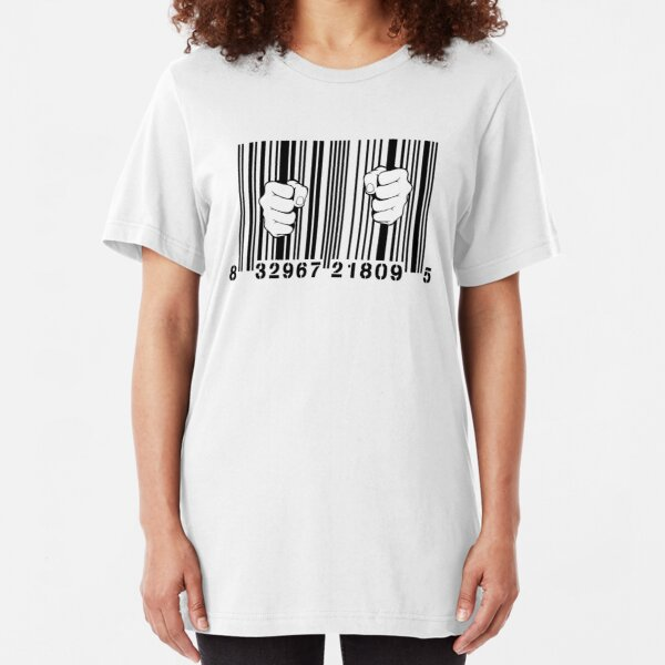 Captured By Consumerism UPC Barcode Prison Slim Fit T-Shirt