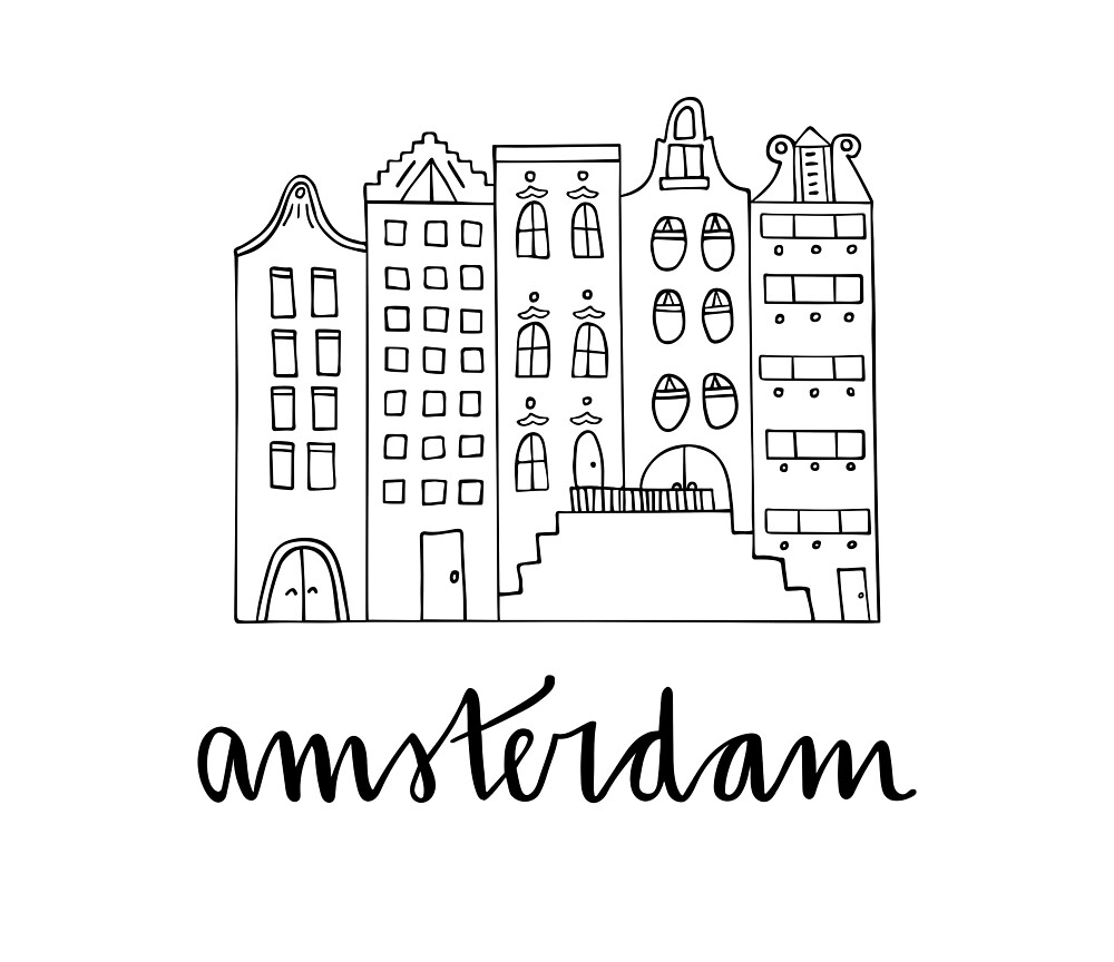 Amsterdam in Black and White by Sawyer Wilson