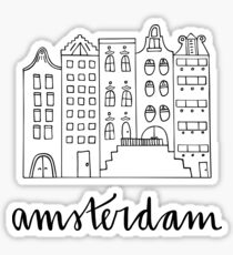Amsterdam in Black and White Sticker