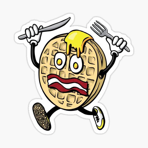 Mr. Scaredy Waffle Sticker