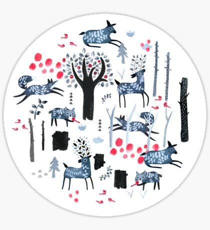 Frosted Forest Sticker