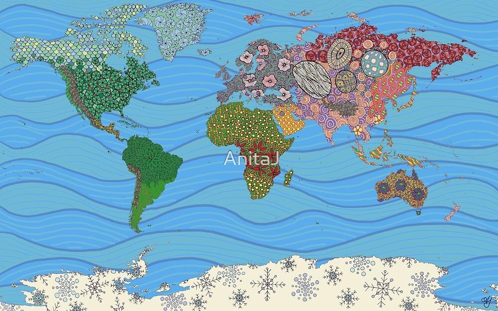 World Map doodles by AnitaJ