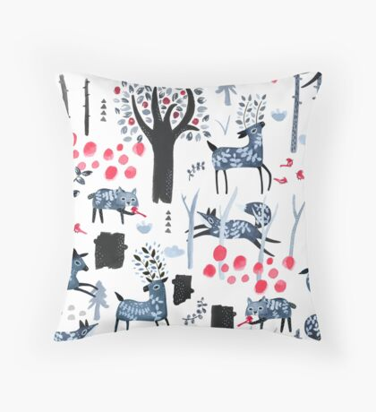 Frosted Forest Throw Pillow