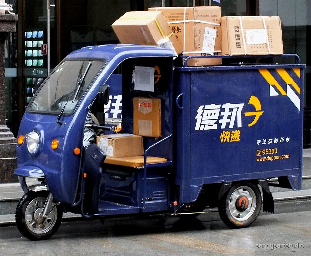 Parcel delivery      Chinese Style by sandysartstudio
