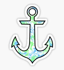 Tie Dye Cute Anchor Sticker