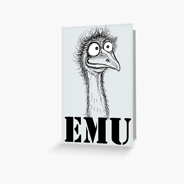 Emu Greeting Card