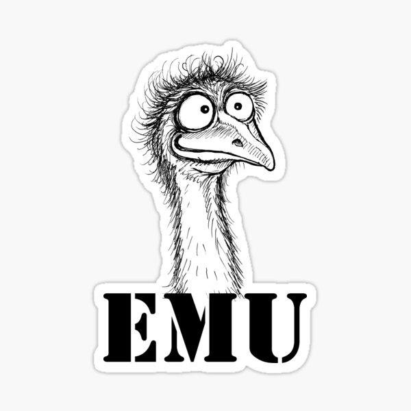 Emu Sticker