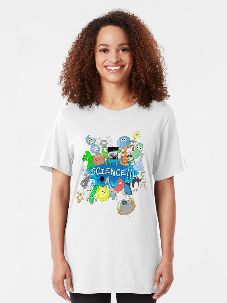Alternate view of Cute Science Explosion! Slim Fit T-Shirt