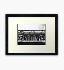 Balcony Windows Framed Print