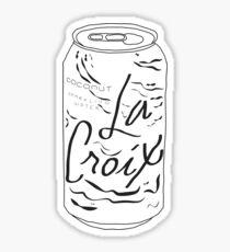 La Croix in Black and White Sticker