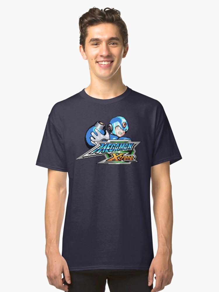 Mega Man Xtreme (GBC Title Screen) Classic T-Shirt Front