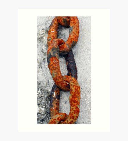 Rusted Chain Art Print