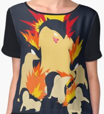 Cyndaquil - Quilava - Typhlosion Women's Chiffon Top
