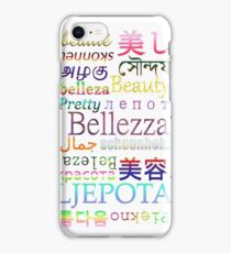"""Typography """"Beauty"""" in 19 Languages iPhone Case/Skin"""