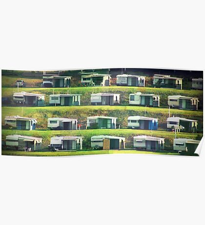 Caravans on the Hill Poster