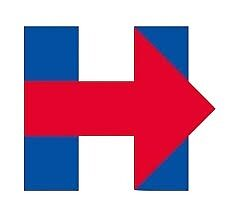 Hillary Clinton Campaign Logo by Nobie Fried