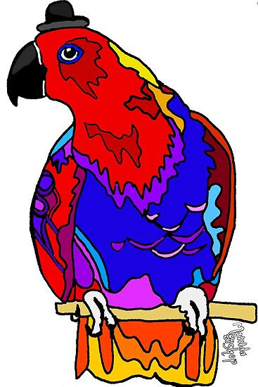 Graphic Eclectus Parrot by Matilda Bishop: Official Redbubble