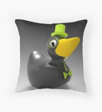 Gentleman duck Throw Pillow